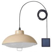 СОЛВИДЕН Подвесная светодиодная лампа, для сада, бежевый, 38 см