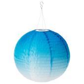 СОЛВИДЕН Подвесная светодиодная лампа, для сада, шаровидный синеватый оттенок, 45 см