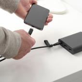 ЛИЛЛЬХУЛЬТ Кабель с разъемами USB-C, темно-серый, 1.5 м