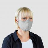 ВЕТСКАП Защитная маска, многоразовая, светло-серый