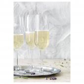 ХЕДЕРЛИГ Бокал для шампанского, прозрачное стекло, 22 сл