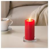 СИНЛИГ Формовая свеча, ароматическая, Красные садовые ягоды, красный, 14 см