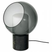 ЭВЕДАЛЬ Лампа настольная, мрамор серый, шаровидный серый шаровидный