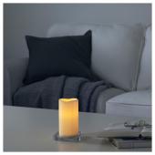 ГОДАФТОН Светодиодная формовая свеча, с батарейным питанием, естественный, 14 см