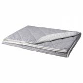 АКСВЕРОНИКА Покрывало, полоска, серый, 180x220 см