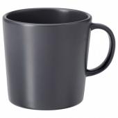 ДИНЕРА Кружка, темно-серый, 30 сл