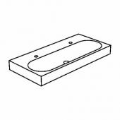 БРОВИКЕН Одинарная раковина, белый, 100x48x10 см
