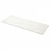 ЭКБАККЕН Столешница, белый под мрамор, ламинат, 186x2.8 см