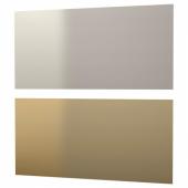 ЛИЗЕКИЛЬ Настенная панель, двусторонний желтая медь, цвет нержавеющей стали, 119.6x55 см