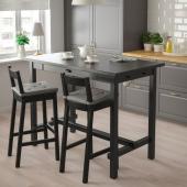 НОРДВИКЕН Барный стол, черный, 140x80 см