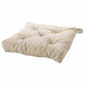 МАЛИНДА Подушка на стул, светло-бежевый, 40/35x38x7 см