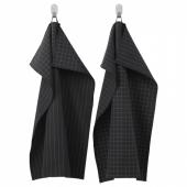 ИКЕА/365+ Полотенце кухонное, черный, 50x70 см