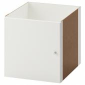 КАЛЛАКС Вставка с дверцей, глянцевый белый, 33x33 см