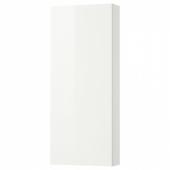 ГОДМОРГОН Навесной шкаф с 1 дверцей, глянцевый белый, 40x14x96 см