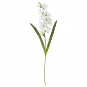 СМИККА Цветок искусственный, Гладиолус, белый, 100 см