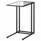 ВИТШЁ Подставка д/ноутбука, черно-коричневый, стекло, 35x65 см