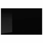 СЕЛЬСВИКЕН Дверь/фронтальная панель ящика, глянцевый черный, 60x38 см