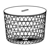 КВИСТБРУ Столик с отделениями д/хранения, белый, 61 см
