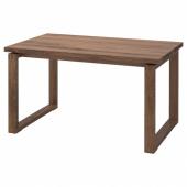 МОРБИЛОНГА Стол, дубовый шпон коричневая морилка, 140x85 см