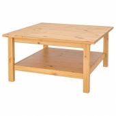 ХЕМНЭС Журнальный стол, светло-коричневый, 90x90 см