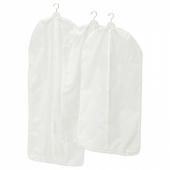 СКУББ Чехол для одежды, 3 штуки, белый