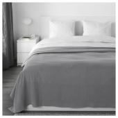 ИНДИРА Покрывало, серый, 230x250 см