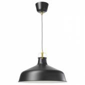РАНАРП Подвесной светильник, черный, 38 см