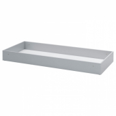 БЕДИНГЕ Ящик для хранения, светло-серый