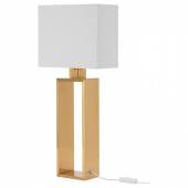 СТИЛТЬЕ Лампа настольная, белый с оттенком, желтая медь
