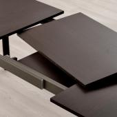 СТРАНДТОРП Раздвижной стол, темно-коричневый коричневый, 150/205/260x95 см