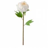 СМИККА Цветок искусственный, Пион, белый, 30 см