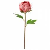 СМИККА Цветок искусственный, Пион, темно-розовый, 30 см