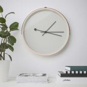 РОТБЛОТА Настенные часы, ясеневый шпон, светло-серый, 42 см