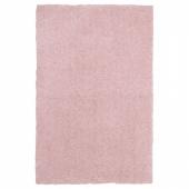 ЛИНДКНУД Ковер, длинный ворс, розовый, 60x90 см