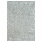 ВОНГЕ Ковер, длинный ворс, светло-серый, 133x195 см