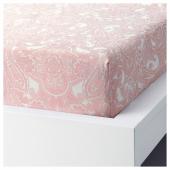 ЙЭТТЕВАЛЛМО Простыня натяжная, белый, розовый, 90x200 см