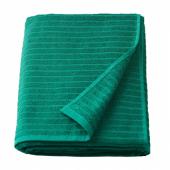 ВОГШЁН Простыня банная, темно-зеленый, 100x150 см