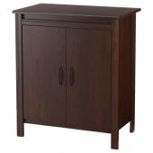 БРУСАЛИ Шкаф с дверями, коричневый, 80x93 см