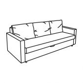 ФРИХЕТЭН 3-местный диван-кровать, Бумстад черный