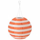 СОЛВИДЕН Подвесная светодиодная лампа, для сада шаровидный, в полоску разноцветный, 30 см