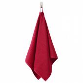ВОГШЁН Полотенце, красный, 50x100 см
