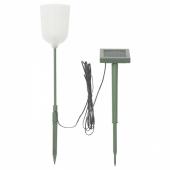 СОЛВИДЕН Подсветка н/солн батарее,светодиод, для сада форма колокола, цветок белый