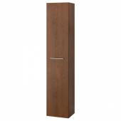 ГОДМОРГОН Шкаф высокий, под коричневый мореный ясень, 40x32x192 см