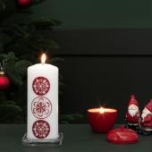 ВИНТЕР 2020 Ароматическая свеча, в форме яблока, Зимние яблоки красный, 9 см