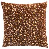 ДЕКОРЕРА Чехол на подушку, точечный бордовый, 50x50 см
