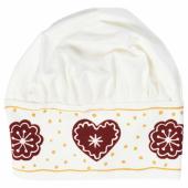 ВИНТЕР 2020 Детская шапочка, орнамент «имбирное печенье» белый/коричневый