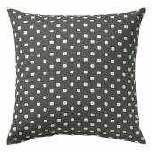 ТАГГБРЭКЕН Чехол на подушку, серый белый, орнамент «точки», 50x50 см