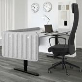 ЭЙЛИФ Экран д/письменного стола, серый, 120x48 см