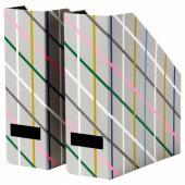 ТЬЕНА Подставка для журналов, серый разноцветный, бумага