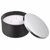 ХЁСТВЭРМЕ Ароматическая свеча с 3 фитилями, Зимняя гармония, черный, 7.5 см
